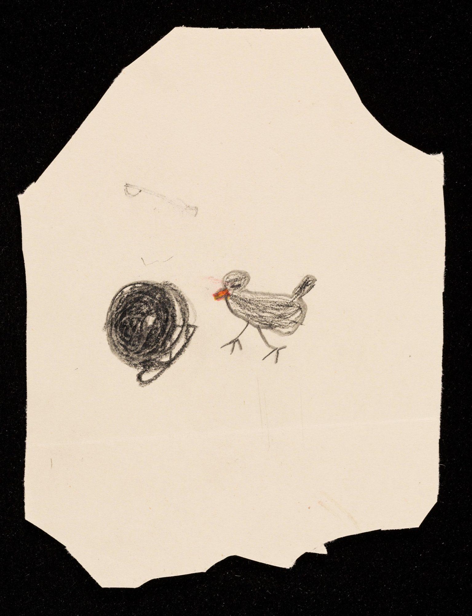 Dessin d'un oiseau par un des jeunes patients de Klein