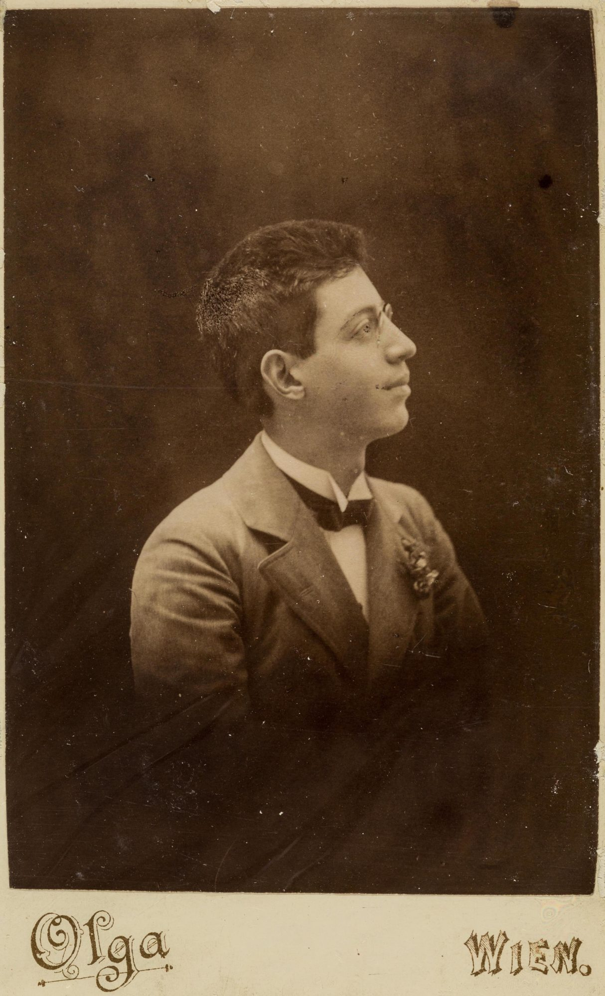 Photograph of Melanie's brother Emmanuel around 1894