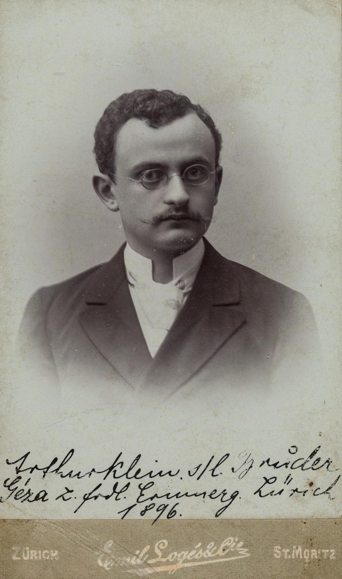 Arthur Klein a los dieciocho años