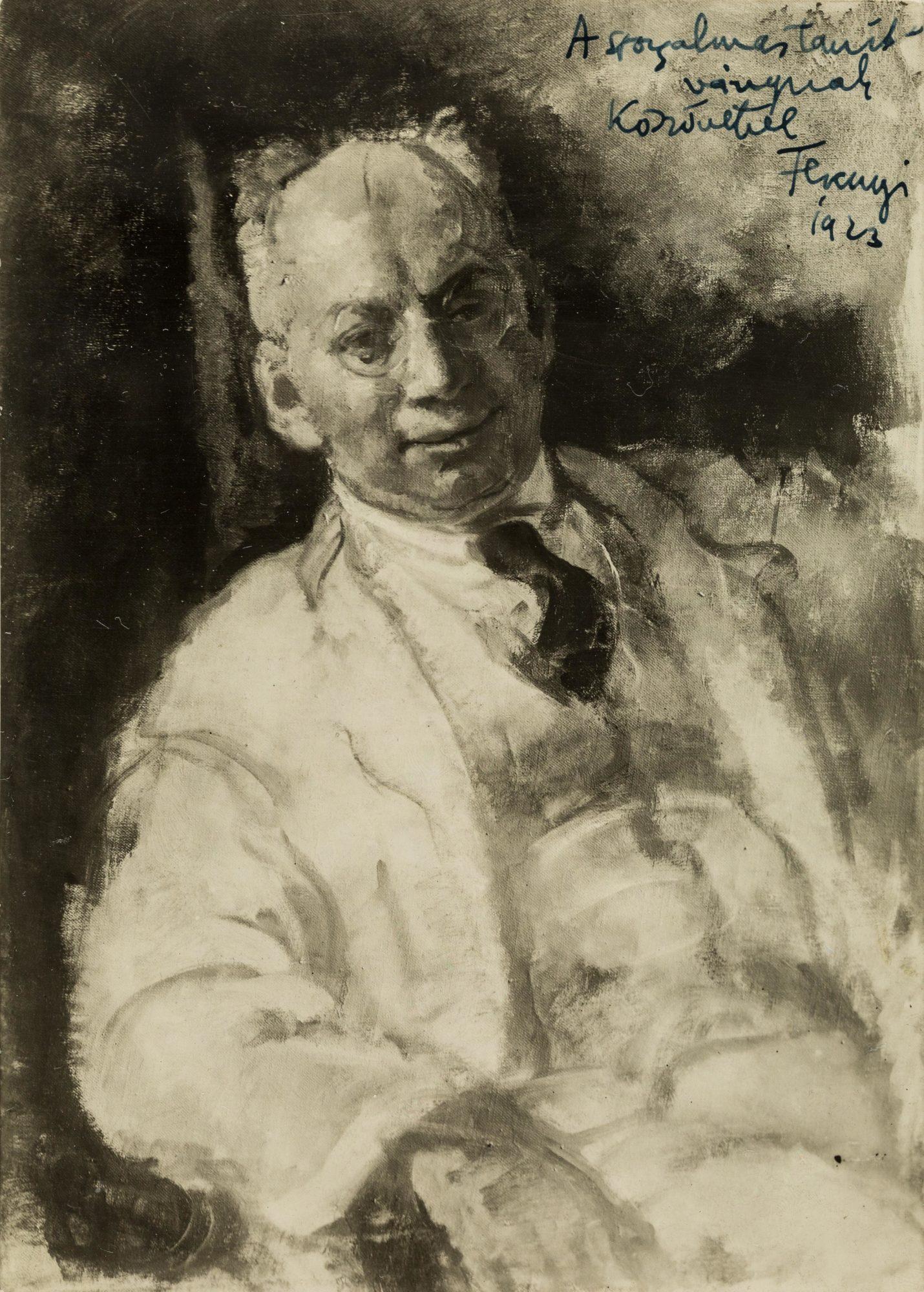 Image en noir et blanc d'un tableau de Sandor Ferenczi