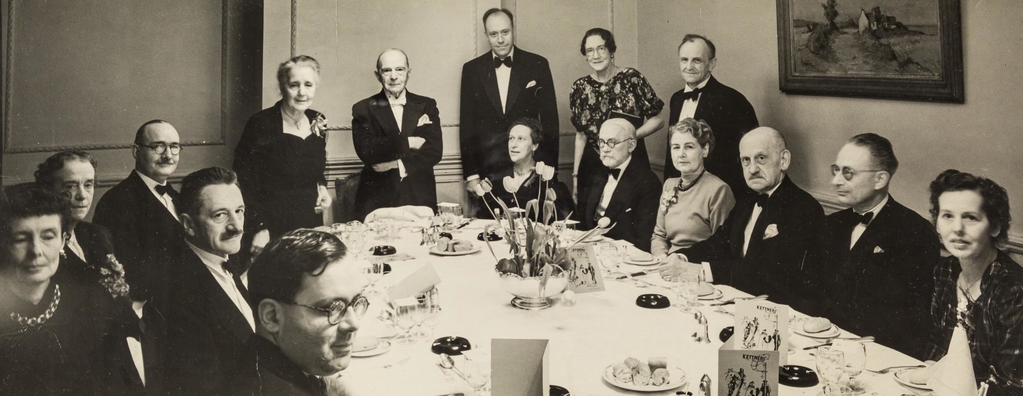 Photograph of Klein's 70th birthday dinner, 1952