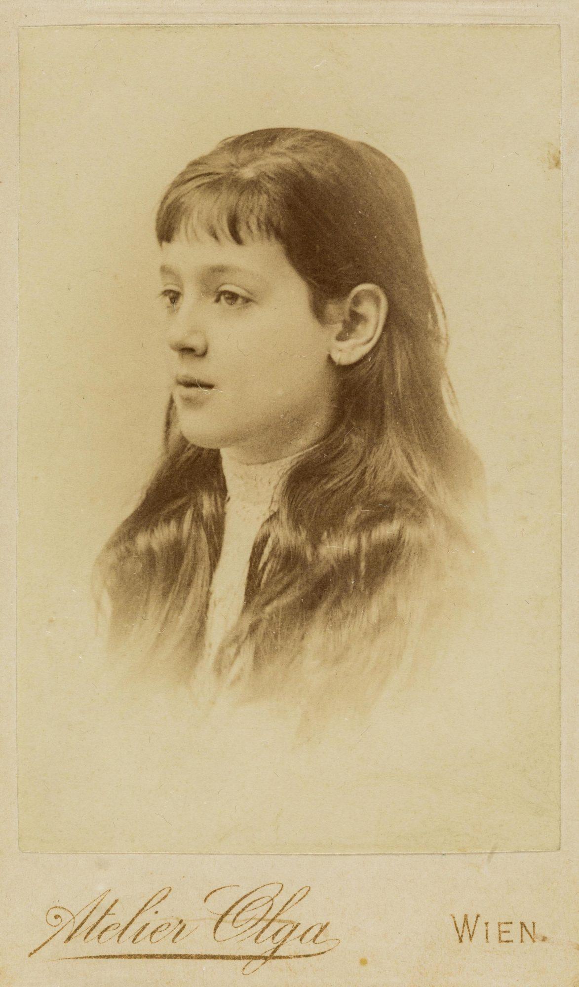 Melanie Klein a los siete u ocho años de edad