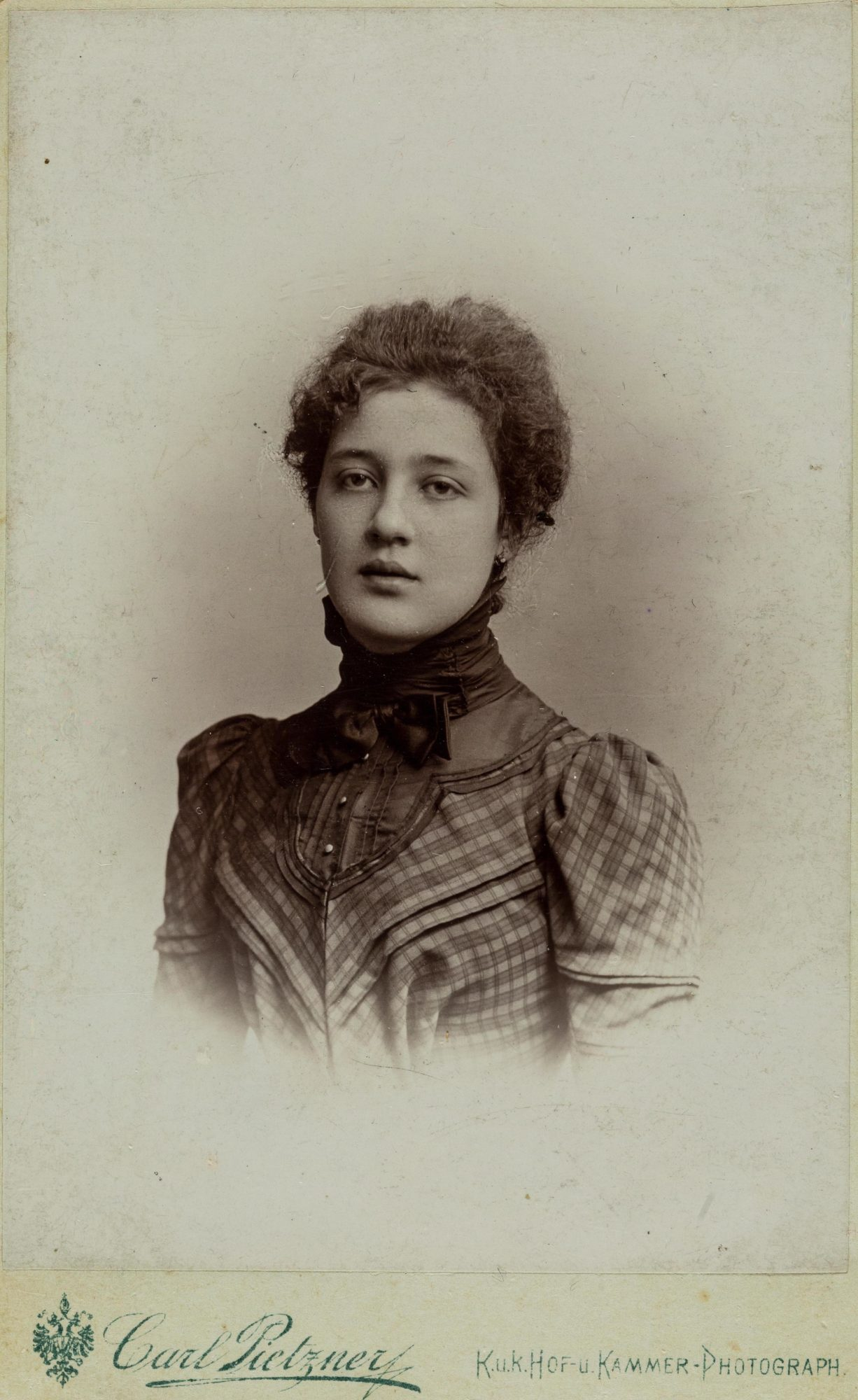 Photograph of Melanie at the age of 17