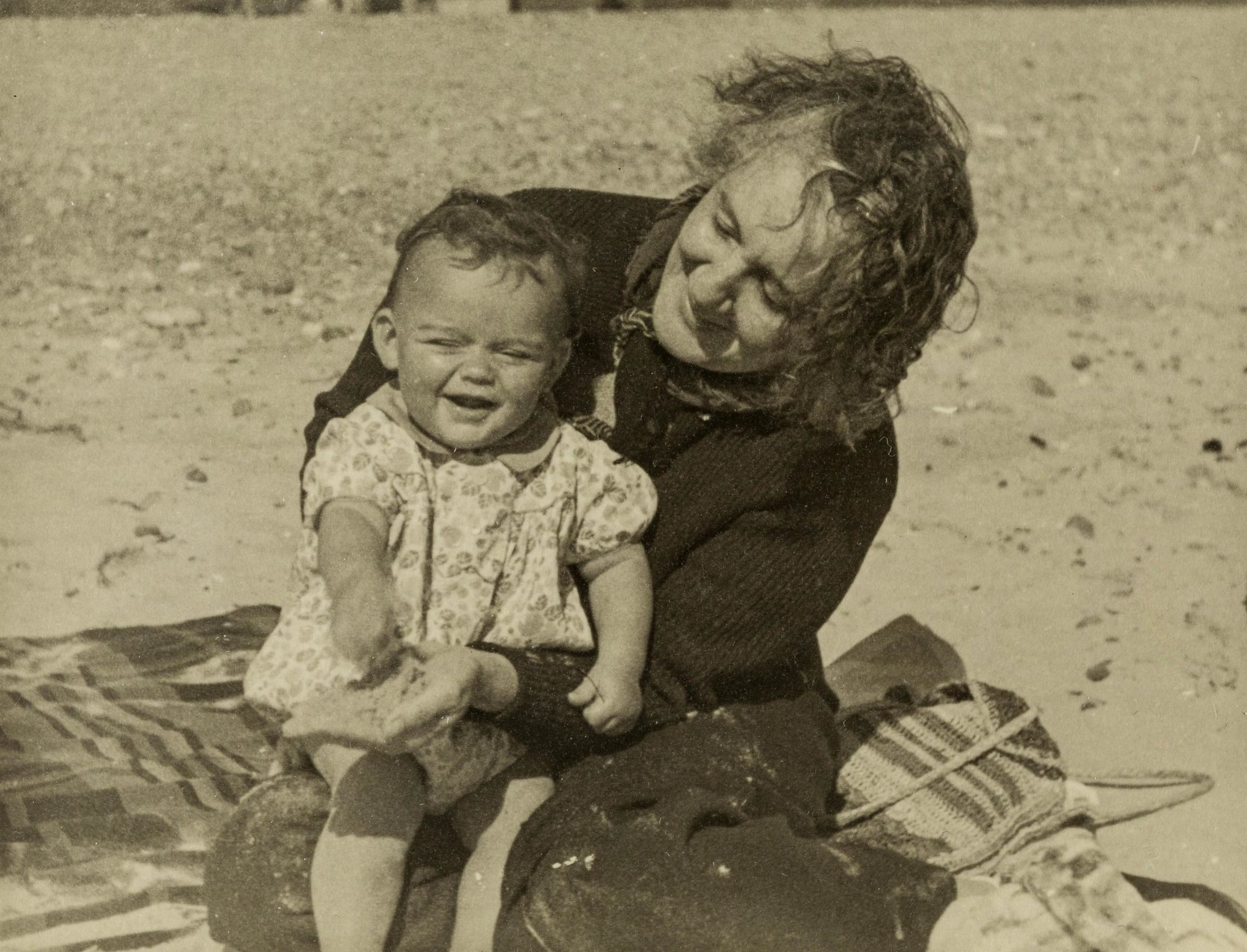 Photograph of Melanie Klein with her grandson Michael in 1938