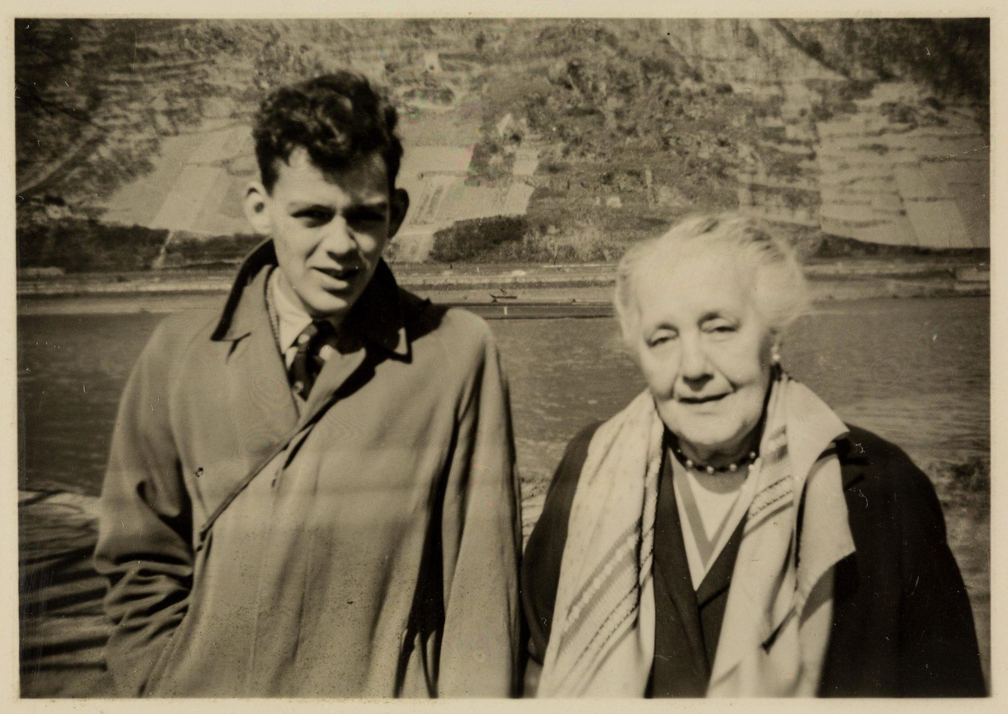 Klein con su nieto Michael en 1958