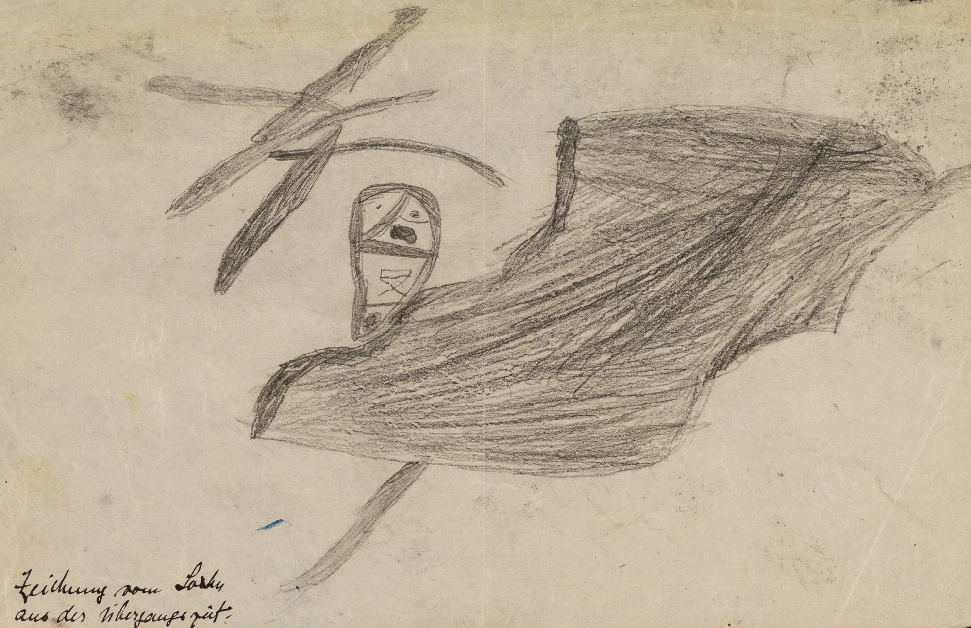 Pencil drawing by a one of Klein's early child patients