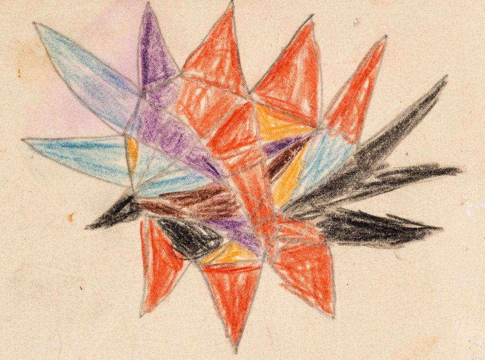 Dibujo realizado por el paciente de Melanie Klein de diez años, 'Richard', representando a su 'familia interior'