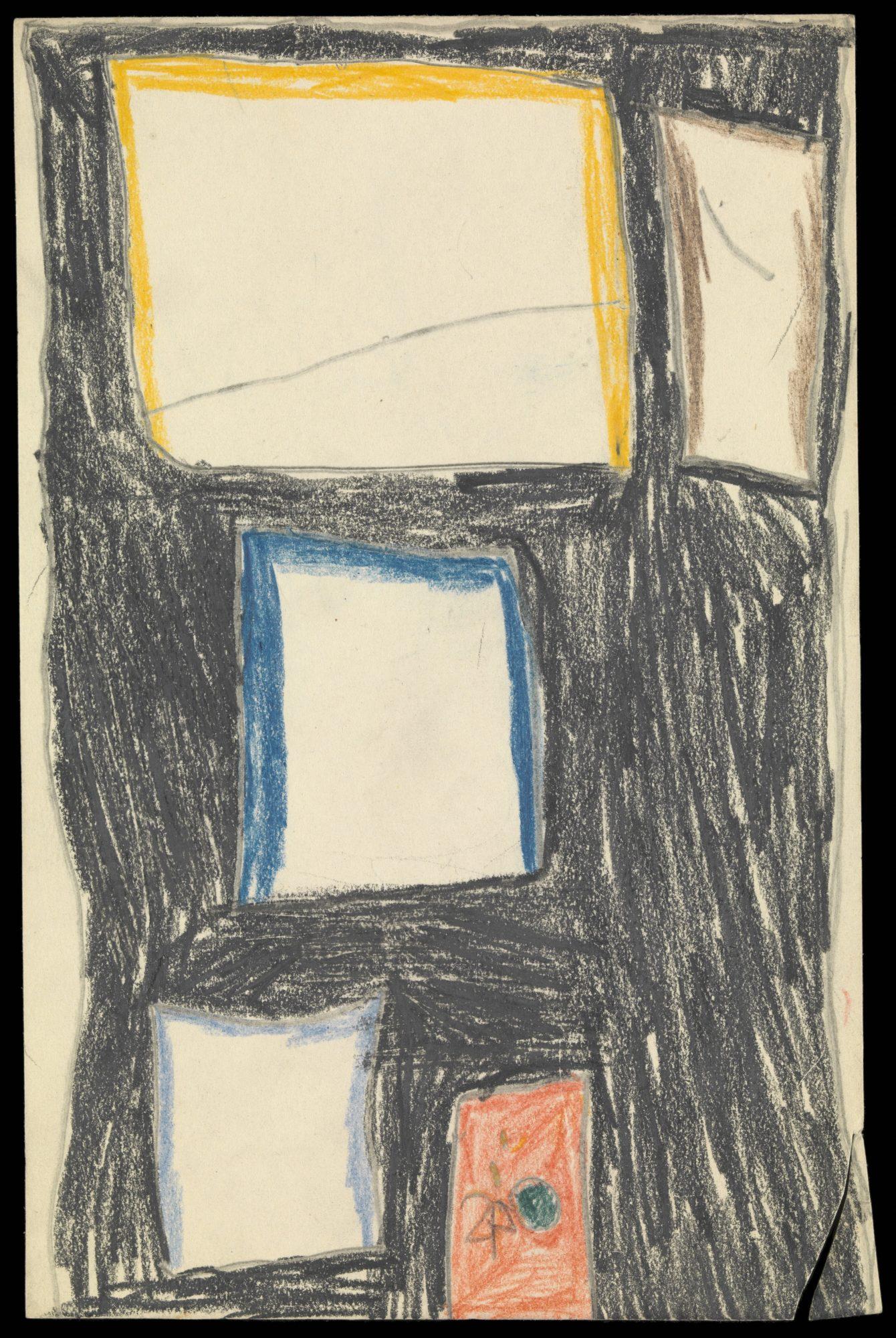 Dibujo de una casa hecho por uno de los niños pacientes de Klein
