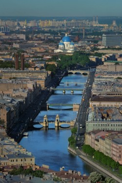 Aerial photo of St Petersburg
