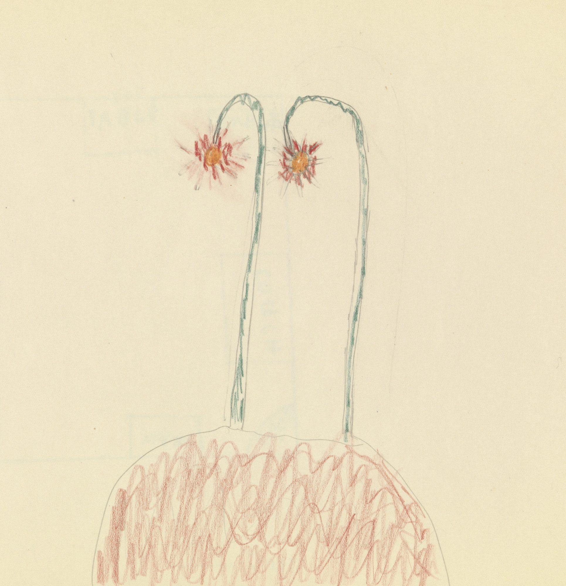 Dessin en couleurs d'un petit patient de Melanie Klein