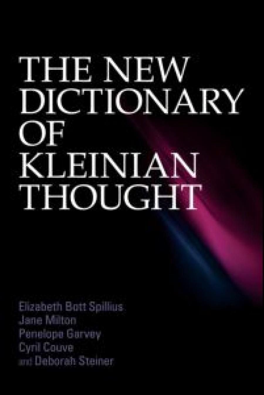 Nouveau dictionnaire de la pensée kleinienne