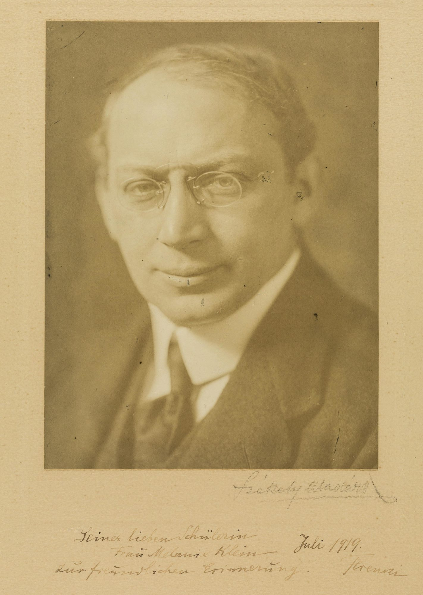 Photograph of psychoanalyst Sandor Ferenczi
