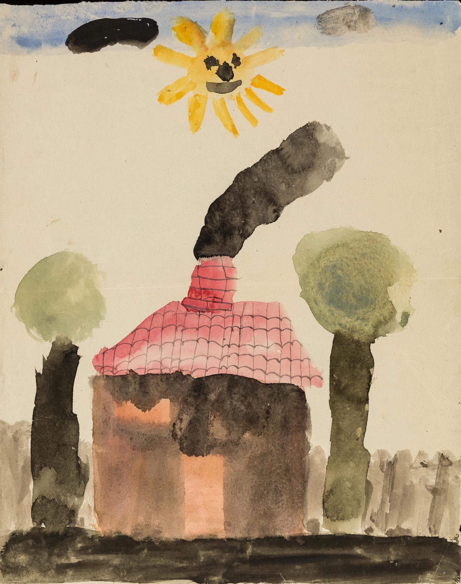 Painting of a house by 'Edgar', one of Klein's child patients in 1923