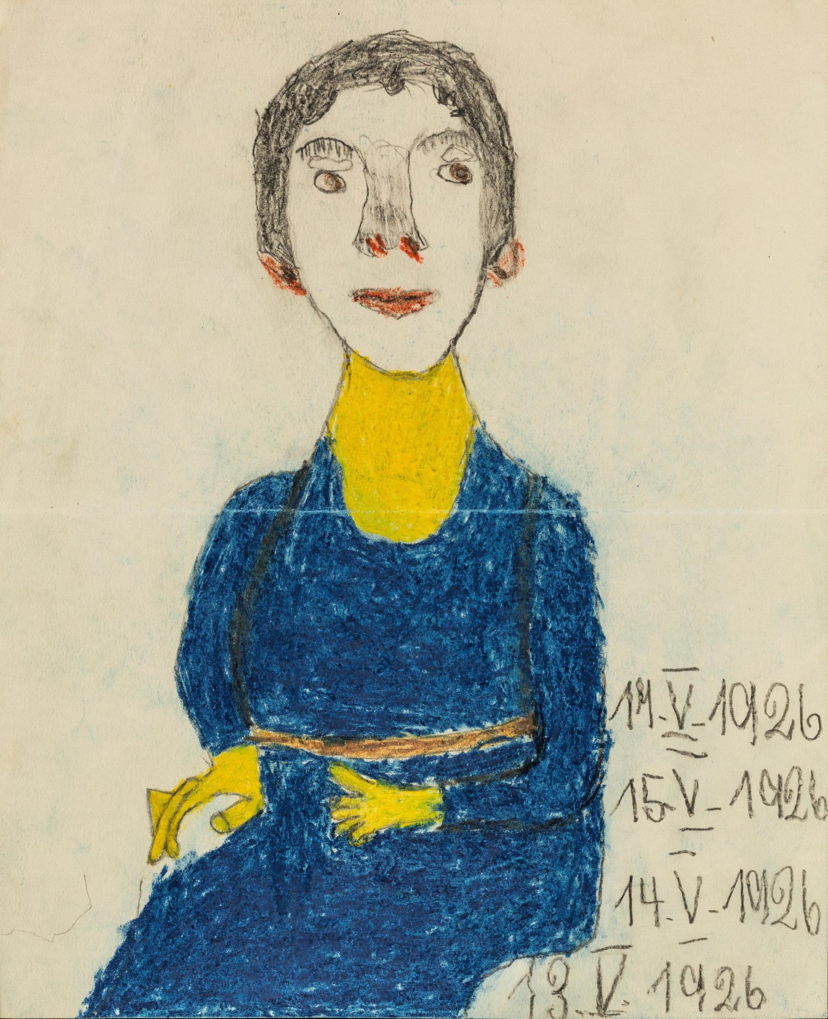 A drawing of Melanie Klein by one of her patients in 1926.
